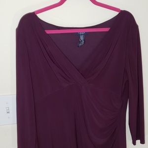 Purple Chaps Dress